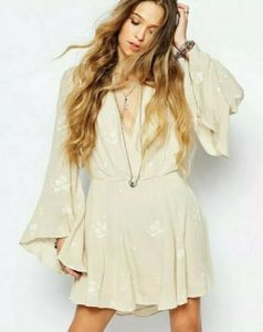Free People Jasmine Dress Almond Combo Size 4
